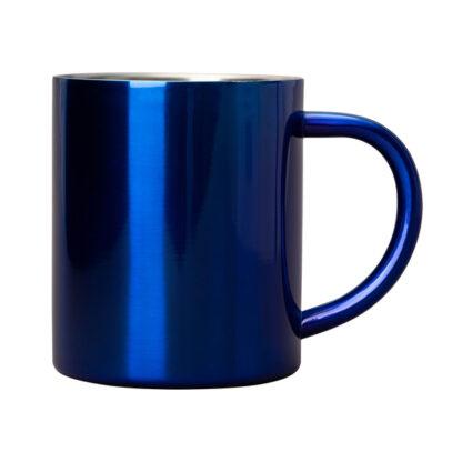 niebieski kubek stalowy
