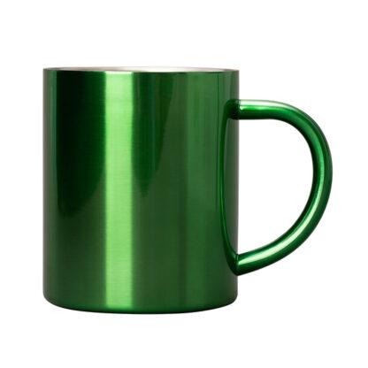 zielony kubek stalowy